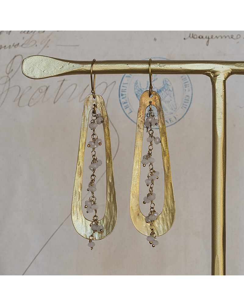 OraTen Iota Earrings - Moonstone