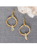 HomArt Cerc Earrings  - Raw Citrine