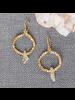 OraTen Cerc Earrings - Raw Citrine