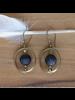 HomArt Brass Earrings with Floating Horn Bead - Dark Horn