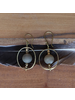 OraTen Brass Earrings with Floating Horn Bead - Light Horn