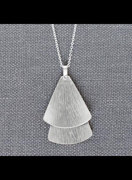 HomArt Silver Double Gingko Necklace