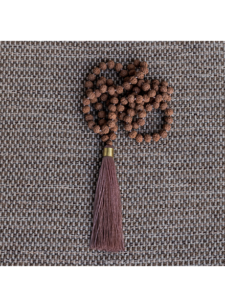 HomArt Mala and Tassel Necklace - Pink