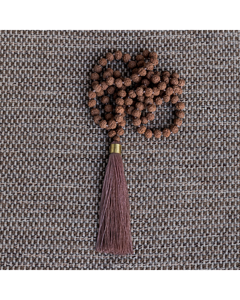 OraTen Mala and Tassel Necklace - Pink