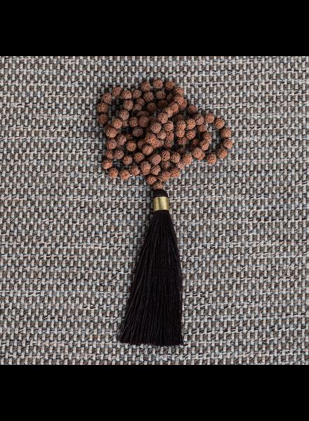 OraTen Mala and Tassel Necklace - Eggplant
