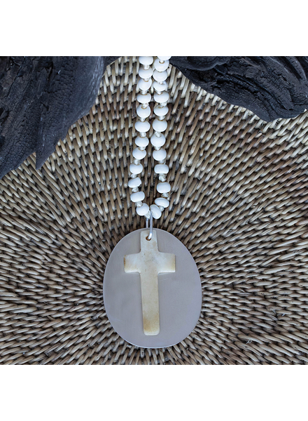 OraTen Sierra Cross Pendants - Bone