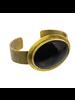 OraTen Bezel Brass Cuff - Horn