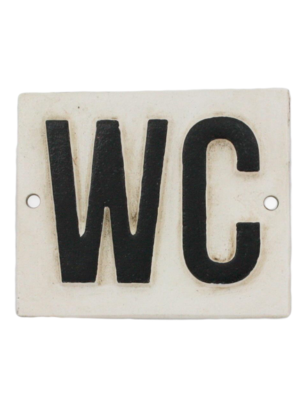 HomArt Cast Iron Sign - WC - Set of 2