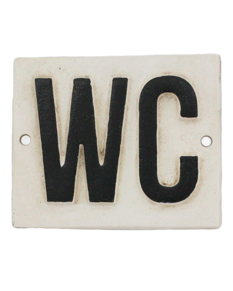 HomArt Cast Iron Sign - WC - Set of 2