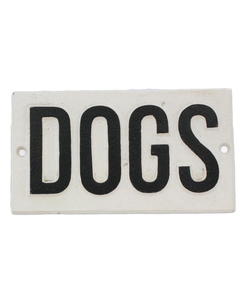 HomArt Cast Iron Sign - DOGS