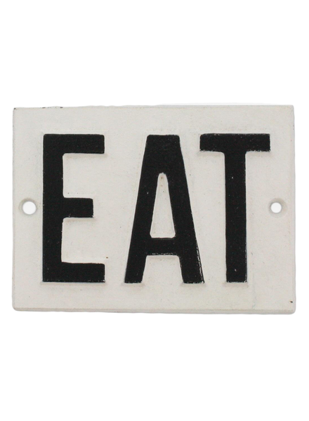 HomArt Cast Iron Sign - EAT