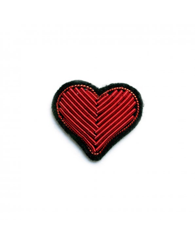 Macon & Lesquoy Pins Embroidered Heart Pin