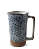 Miya Company Blue Vintage Waves 10 Oz. Mug