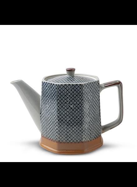 Miya Company Blue Vintage Dots Tea Pot