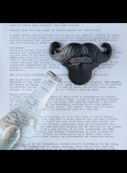 HomArt Black Mustache Bottle Opener - Set of 2