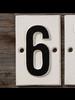 HomArt Cast Iron Sign - 6 - Set of 2