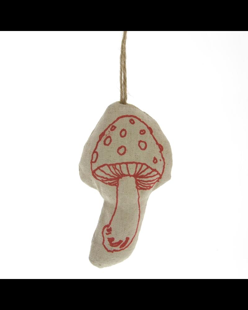 HomArt Linen Stamped Ornament - Mushroom