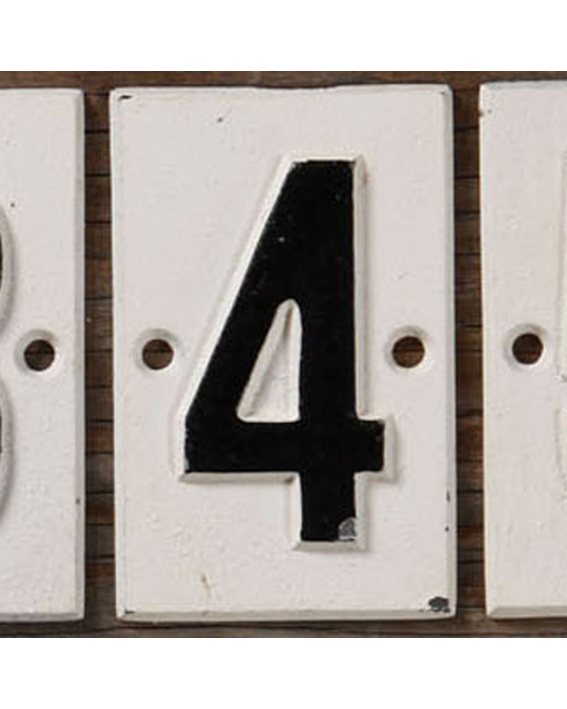 HomArt Cast Iron Sign - 4 - Set of 2