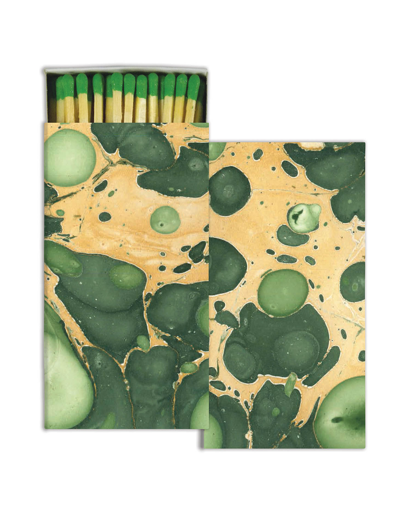 HomArt Marbleized Paper - Green - Matches Set of 3 Boxes