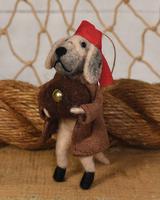 HomArt Dog Pirate with Treasure Chest