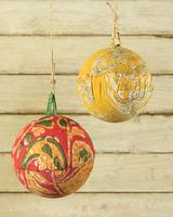 HomArt Kantha Sphere Ornament - 5in