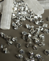 HomArt Glacier Chips Acrylic Faceted Beads Silver