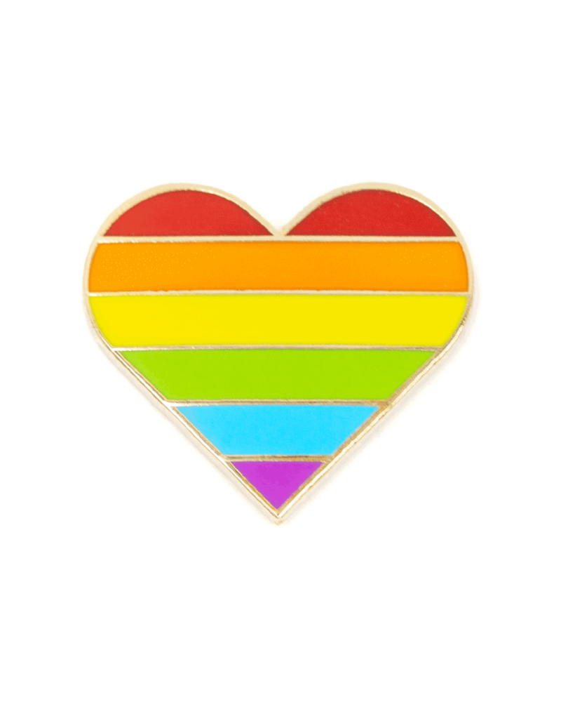 These Are Things Rainbow Pride Heart Enamel Pin