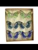 HomArt Mandarin Glitter Butterflies on Clip - Box of 6 Assorted - Green, Teal, Cobalt