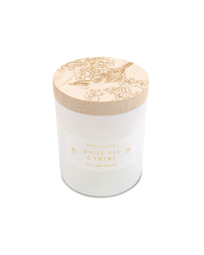 White Tea & Thyme Small Print Block Candle