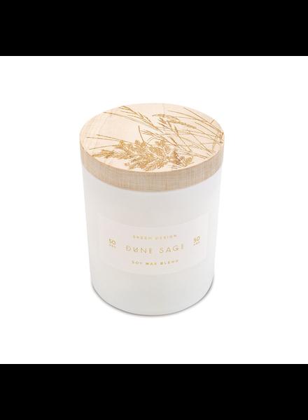 Dune Sage Small Print Block Candle