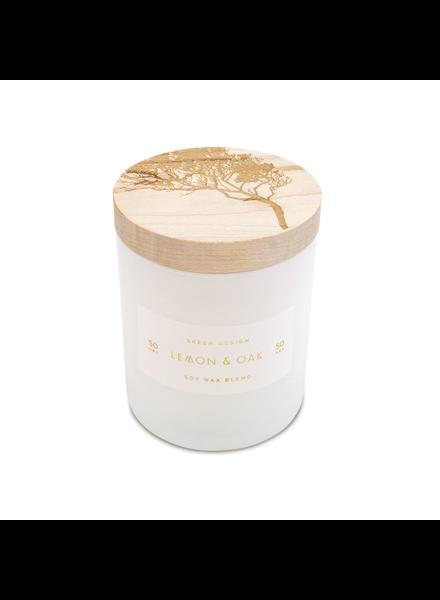 Lemon & Oak Small Print Block Candle