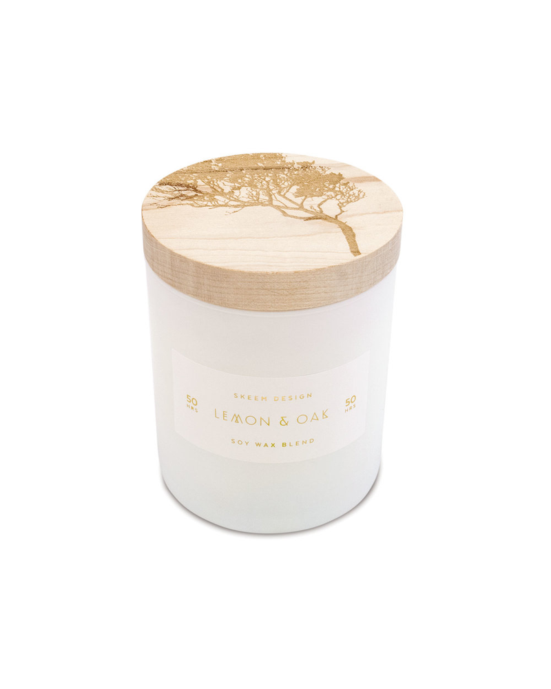 Lemon & Oak Small Print Block Candle