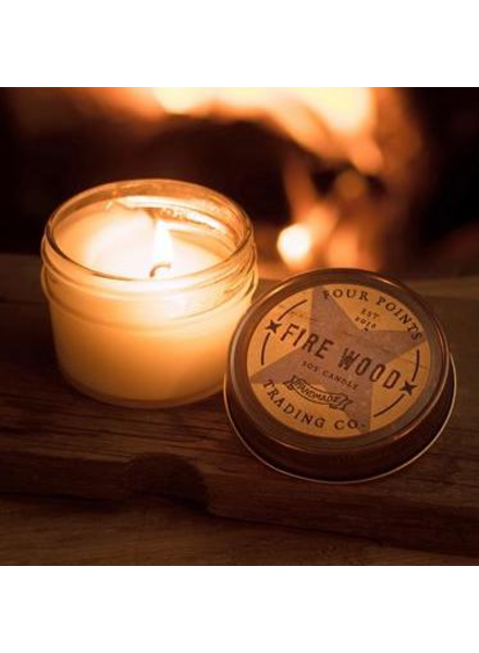 Four Points Trading Co Firewood Candle 4oz
