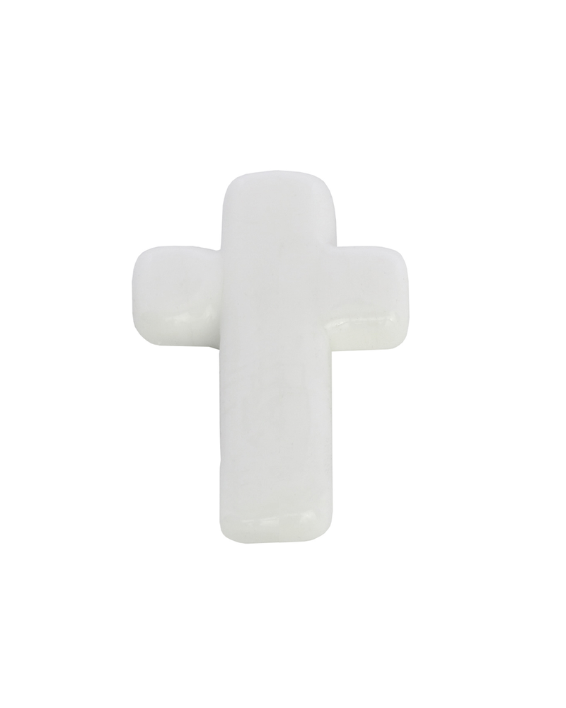 HomArt Tiny Glass Cross - White Bakers Dozen
