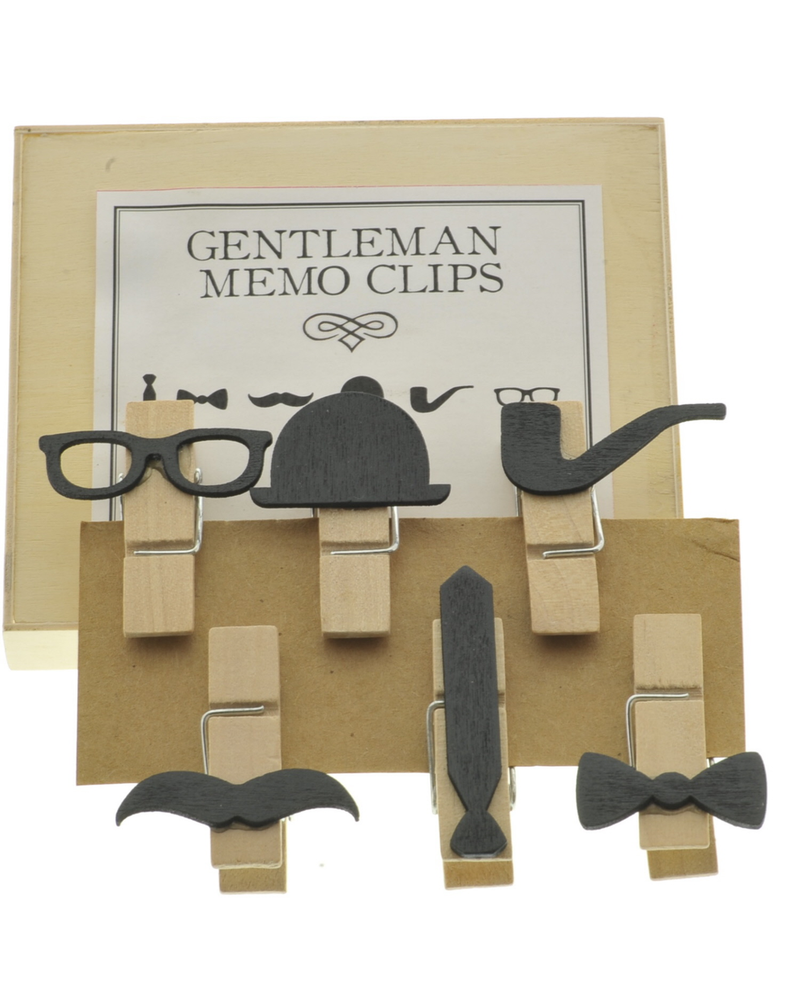 HomArt Gentleman Memo Clips, Box of 6 - Set of 4 Boxes