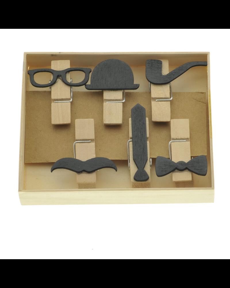 HomArt Gentleman Memo Clips, Box of 6 - Set of 4 Boxes
