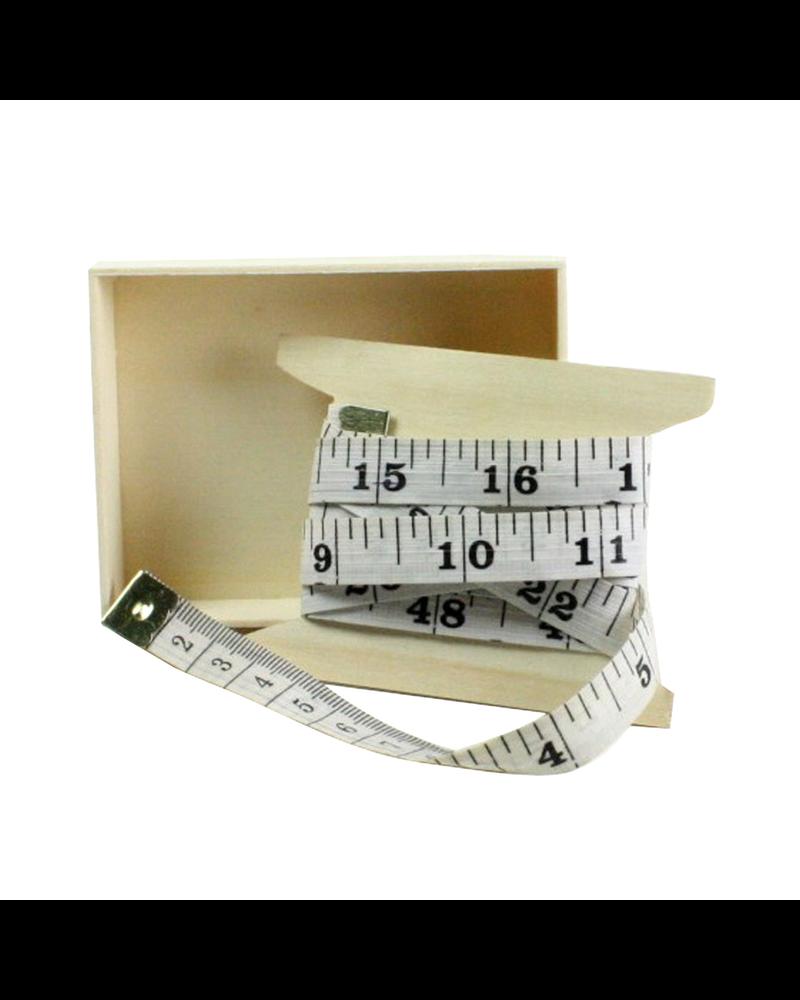 HomArt Vinyl Tape Measure White with Black Print - Set of 6