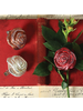 HomArt Belle's Glass Rose - Red Glitter - Set of 4