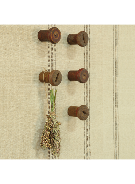 HomArt Piper Wood Spool Wall Hook - Set of 2