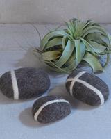 HomArt Felted Stones - Assortment of 3
