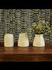HomArt Matte White Margot Vase - Diamond - Set of 2