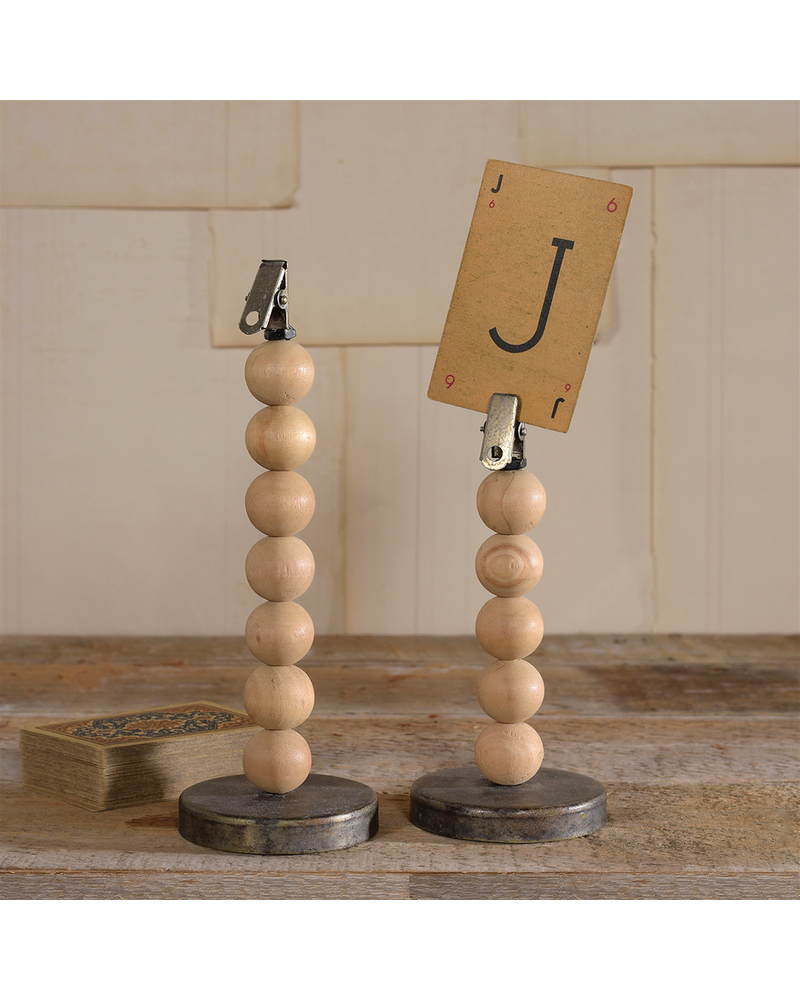 HomArt Large Wood Sphere Clip Stand - Set of 2