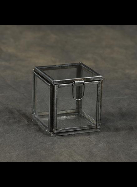 HomArt Pierre Demi Leaded Glass Box - Petite Silver