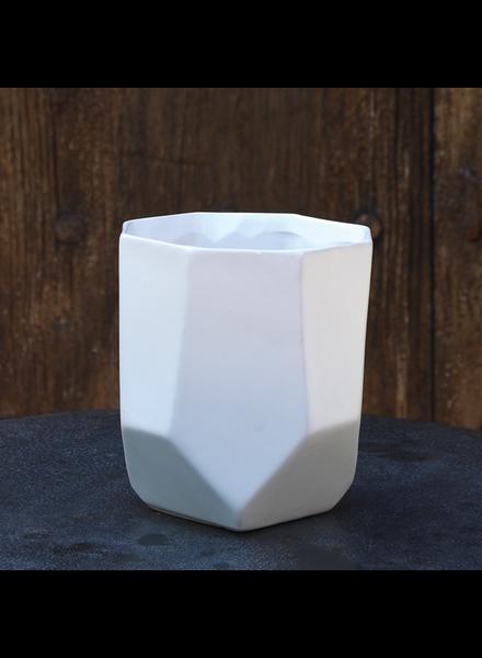 HomArt Lund Ceramic Vase - Sm - Matte White - Set of 2