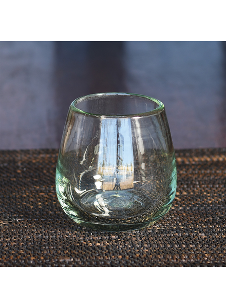HomArt Cantina Recycled Glass Stemless Wine Glass - Set of 2
