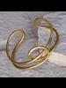 OraTen Nusa Twisted Wire Cuff - Brass