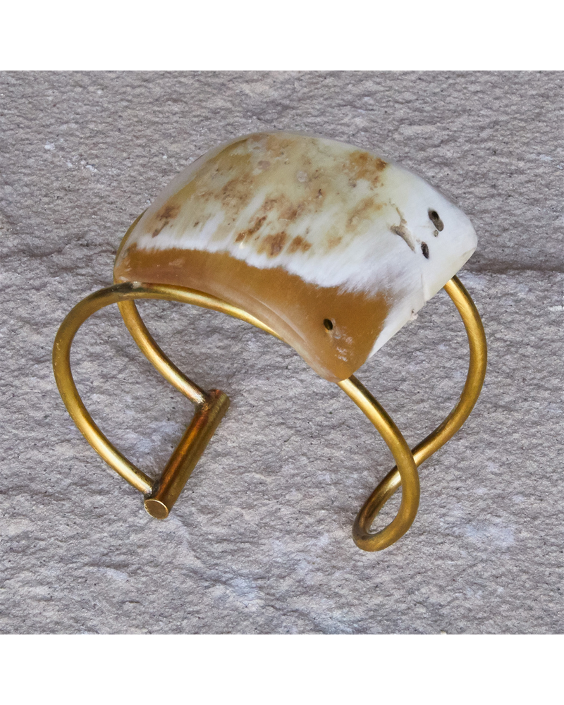 OraTen Celestial Brass Bangles, Oval - Sm