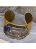 OraTen Banten Wide Cuff - Dark Horn, Brass