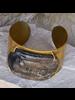 OraTen Celestial Silver Bangles, Oval - Sm