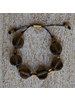 OraTen Seaglass Disk Fishing Line Bracelet - Grey onBlack Line